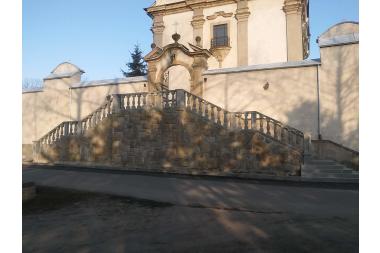 Sanktuarium w Kobylance - schody główne