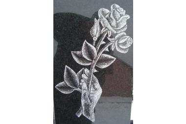 Róża czarno - biała